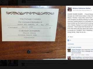 Florida woman buys dresser, finds human remains