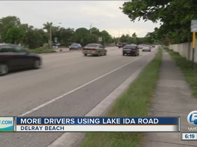 Drivers avoiding Atlantic Ave in Delray Beach put pressure on Lake Ida Rd