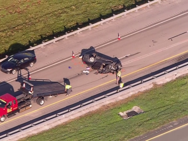 CHOPPER 5: Crash on Florida's Turnpike in St. Lucie County closes all…