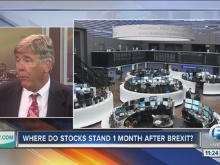 How are stocks doing 1 month after Brexit?