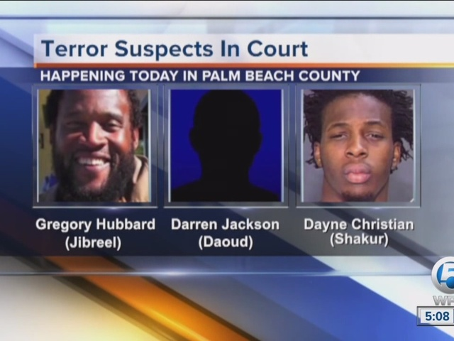 Terror suspects in court today