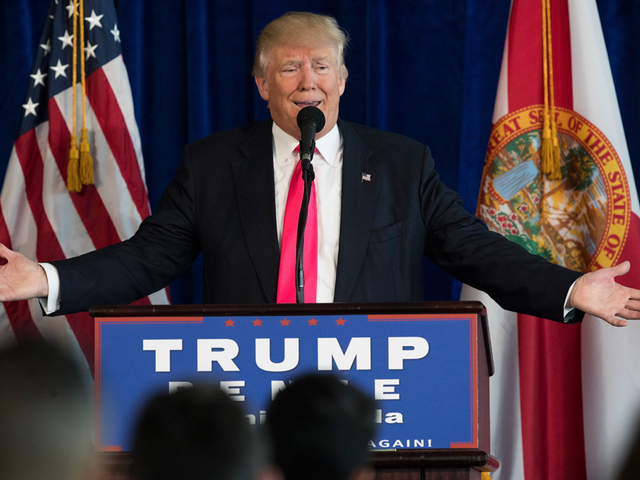Donald Trump holds news conference in Doral