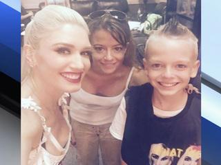 Boy's dream comes true at Gwen Stefani concert