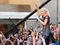 Gwen Stefani's says her prayers were answered during a concert appearance in Palm Beach County