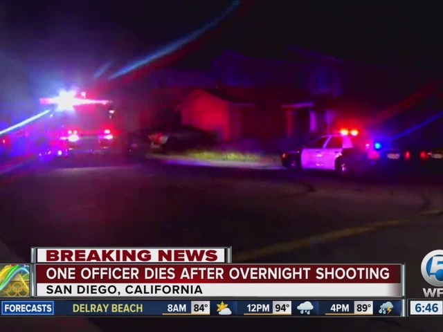 1 San Diego police officer killed, another wounded