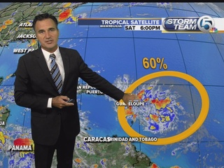 Two tropical waves moving west