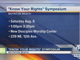 'Know Your Rights' symposium Saturday in Boynton