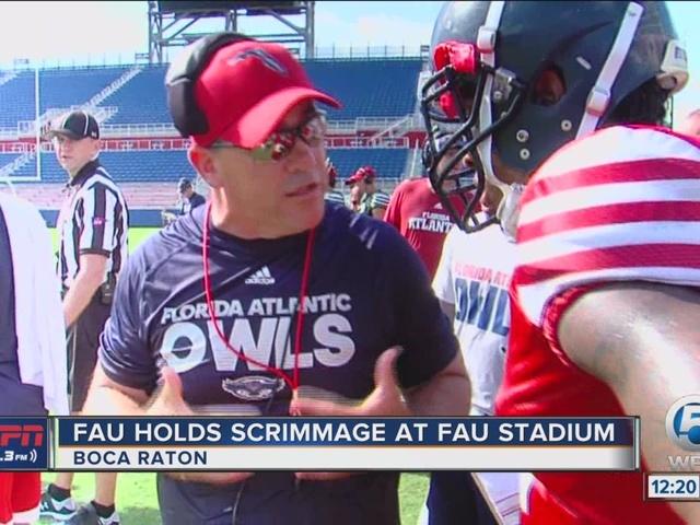 FAU holds scrimmage at FAU Stadium