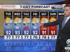 Tonight, a slight chance for coastal rainfall