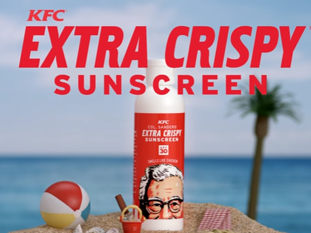 KFC gives away chicken scented sunscreen