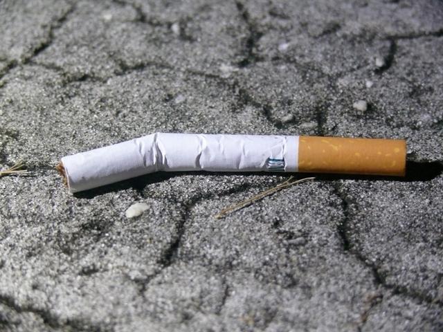 L&M cigarette found outside victim's home