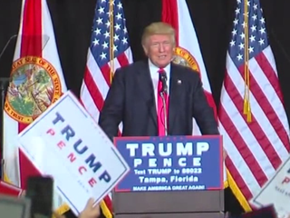 Donald Trump visits Tampa for rally