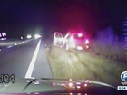 Caught on dash cam: Man tased after police chase