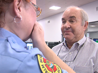 Caller meets, thanks dispatcher for saving wife
