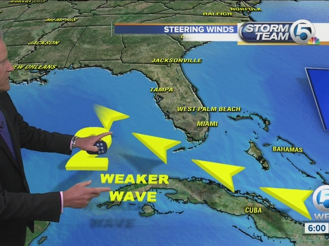 Tropic wave's chances of developing weaken a bit