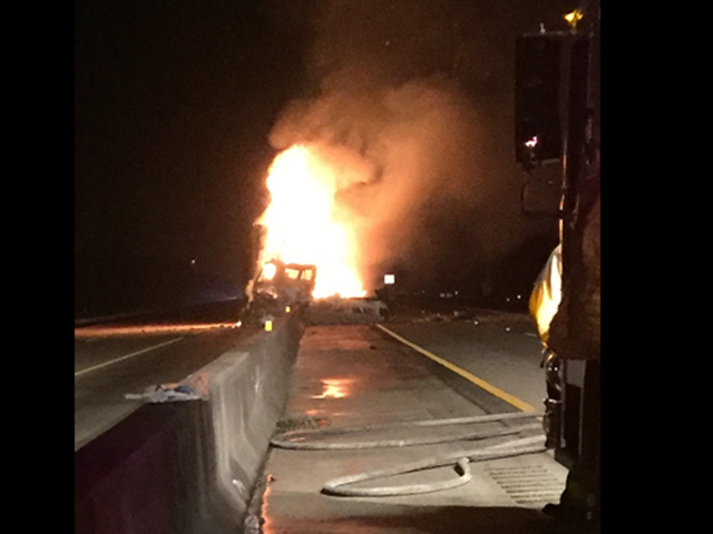 Fiery FedEx crash closes Turnpike in Martin Co.