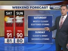 Tropical wave will impact weekend weather