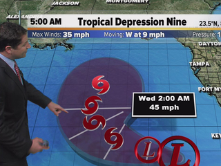 Depression could become tropical storm today