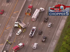 Semi crash causes big backups on I-95