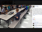 FSU player eats lunch with boy with autism