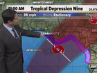 Tropical depression nearly stationary