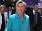 Hillary Clinton speaking in Fort Pierce today