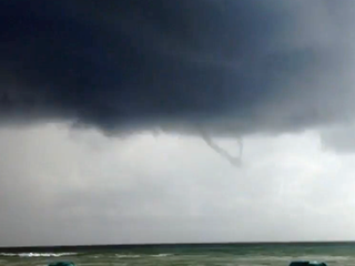 Waterspout spotted off of Singer Island