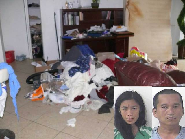 Filthy and deplorable living conditions found during