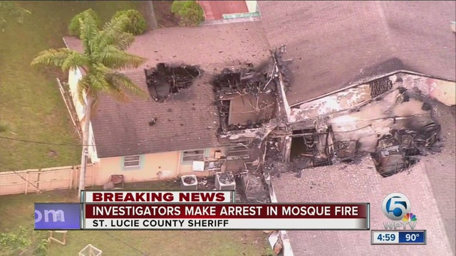 Arrest made in arson fire at Florida mosque