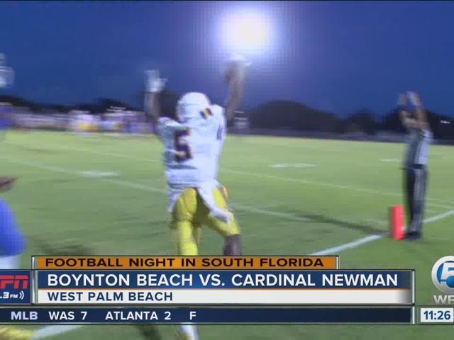 Boynton Beach takes down Cardinal Newman
