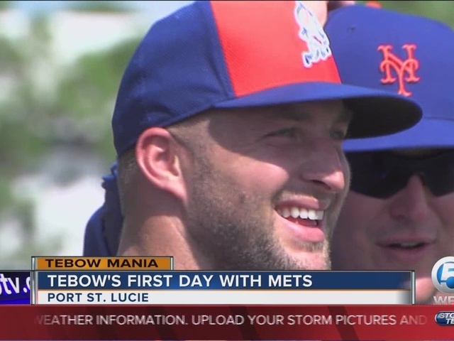 Tim Tebow participates in first Mets practice