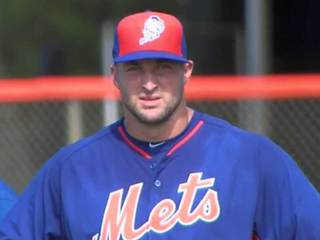 Tim Tebow workout in Port St. Lucie