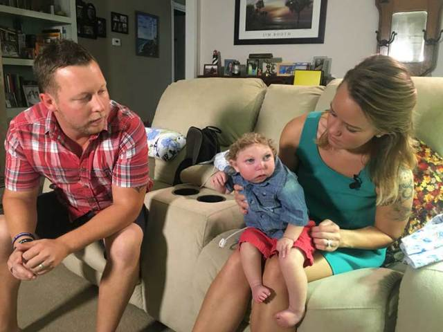 Risultati immagini per Brandon and Brittany Buell talk about their journey raising child with form of microcephaly