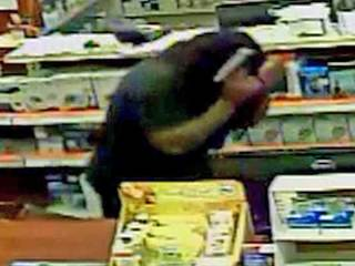 Pharmacy robbed, three people sought