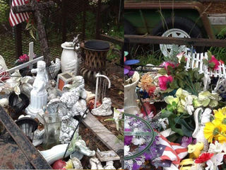 City throws away flowers, crosses on graves