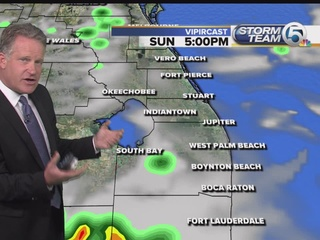 Isolated rain overnight