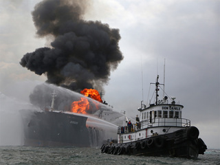 Fuel tanker continues to burn off Mexico's coast