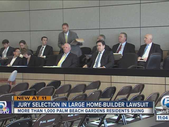 Jury selection begins in Palm Beach Gardens home builder lawsuit