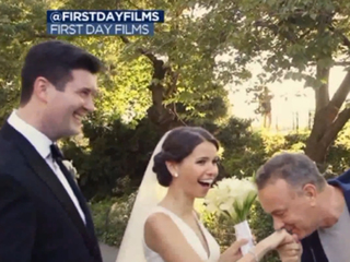 Tom Hanks surprises couple on their wedding day