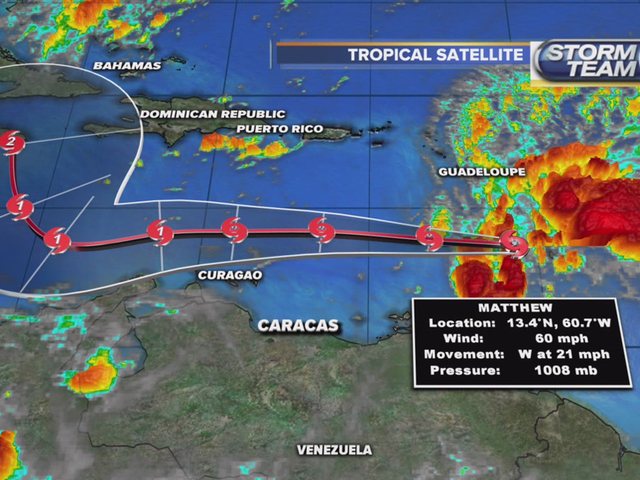 Tropical Storm Matthew forms in the Caribbean