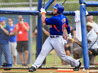 Tim Tebow smacks home run during first at-bat