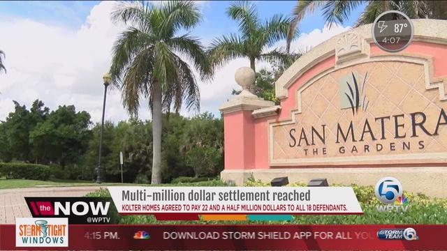 Builder reaches 225 million settlement with 18 defendants in