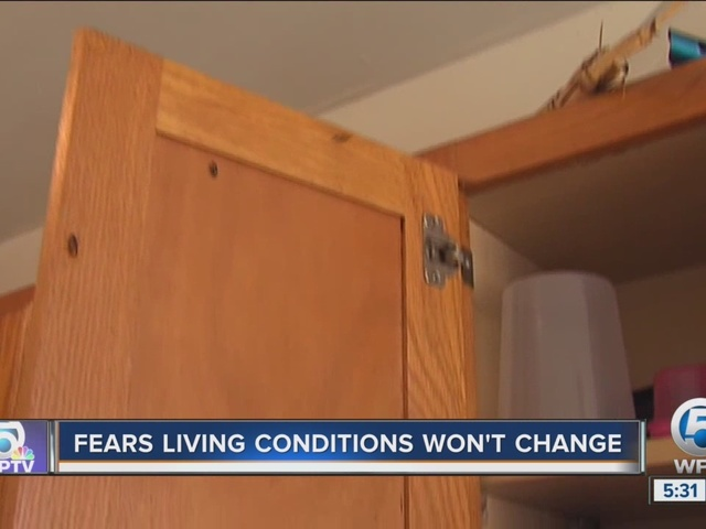 Living conditions won't change