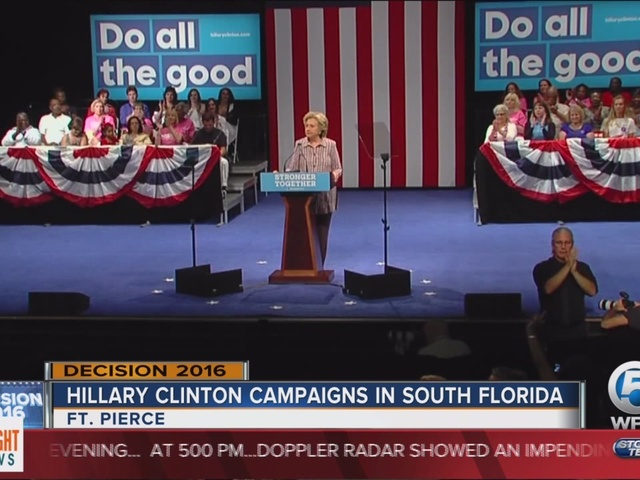 Hillary Clinton campaigns in South Florida