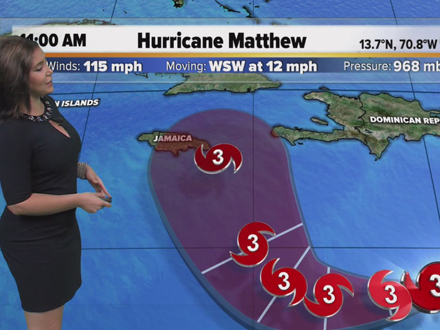 Matthew strengthens to a major Cat 3 hurricane