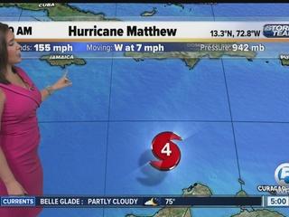 Matthew slightly weakens, So. Fla. in cone