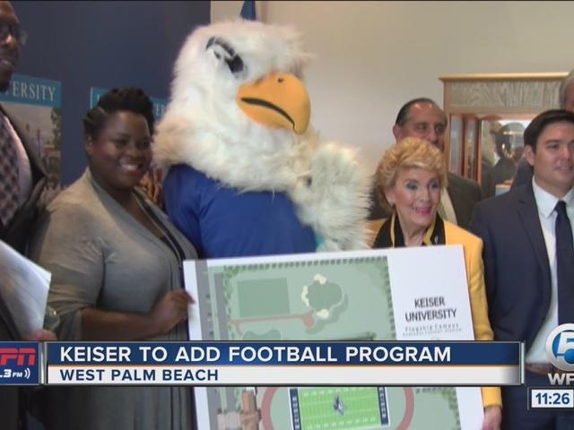 Keiser University Adds Football Program