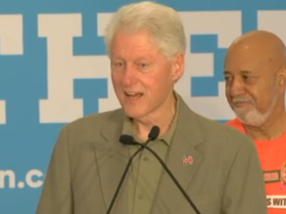 Bill Clinton speaks in Belle Glade