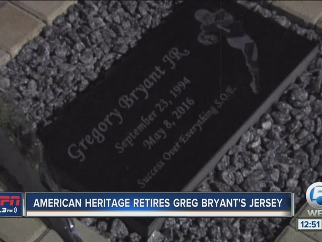 American Heritage retires Greg Bryant's number, honors fallen its star