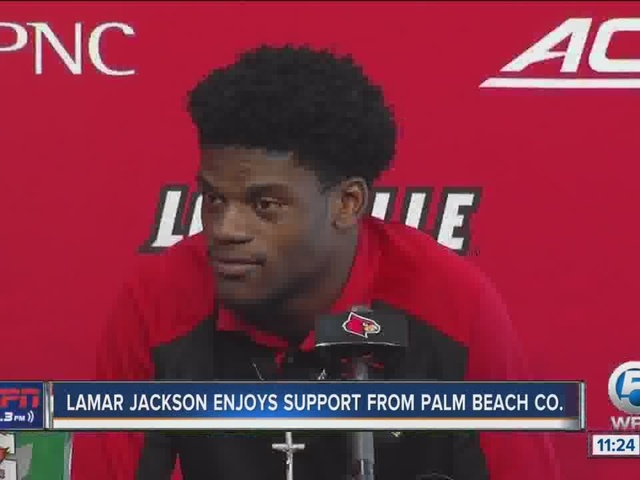 Lamar Jackson enjoying support from Palm Beach County